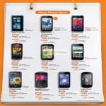 Nokia 700, Lumia 800, Motorola Atrix 2, Razr, Defy, LG Optimus Black, Hub, Blackberry Curve 9360, Huawei Honor, Vision
