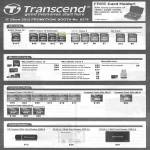 World Transcend Flash Memory Cards, SDHC, SD, MicroSD, Card Reader, Compact Flash CF