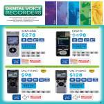 Digital Voice Recorders DM-650, DM-5, VN-711PC, VN-712PC