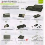 Iogear Accessories Wireless 3D Digital Kit, USB To VGA Adapter, HDMI, Bluetooth Adapter, Keyboard, Digital Pen, Power Station, Accessories