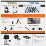SLR Accessory Tripod Tacoto, Tristar, Magnesium Alloy, Carbon Fiber, Monopod, Manfrotto Camera Bag