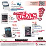 Singtel Mobile HTC ChaCha, Radar, Rhyme, Sensation XE