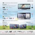 Bravia LED TV KDL-32EX420, KDL-40CX520, KDL-32CX520, KLV-42EX410