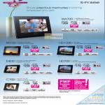 Digital Photo Frames DPF XR100, HD1000, WA700, D830, HD700, C700