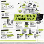 Starhub Acer Aspire Timeline Ultra M3, Galaxy Tab 7.0 Plus, Nokia Lumia 800, Xperia S, LG Prada Phone, Motorola Razr, HTC Sensation XE, Blackberry Torch 9800