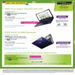 Broadband Fibre Free Acer Aspire Timeline Ultra M3 Notebook Ultrabook, ASUS X43SM MaxInfinity Premium Plus, 100Mbps