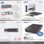 Various HP CW450 Digital Camera, S300, Samsung External DVD Writer, Toshiba USB Flash Drive, WD Elements Desktop External Storage