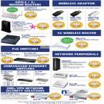 Networking Modem Router ADSL2, USB Wireless Adaptor, 3G, PoE Switches, Media Streamer, HomePlug, Print Server, ZyWall USG-50 USG-100
