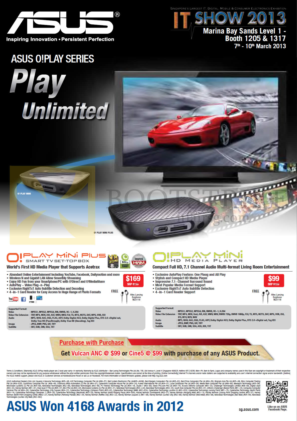 IT SHOW 2013 price list image brochure of ASUS Media Player O Play Mini Plus, O Play Mini HD Media Player