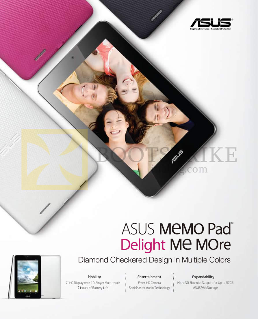 IT SHOW 2013 price list image brochure of ASUS Notebooks Memo Pad Features