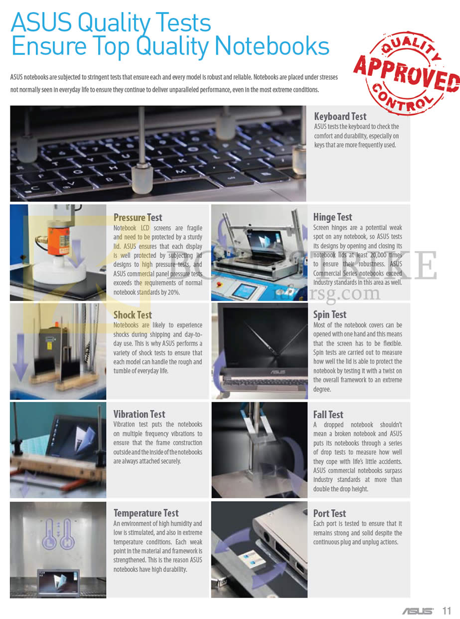 IT SHOW 2013 price list image brochure of ASUS Notebooks Quality Tests Ensure Top Quality Notebooks