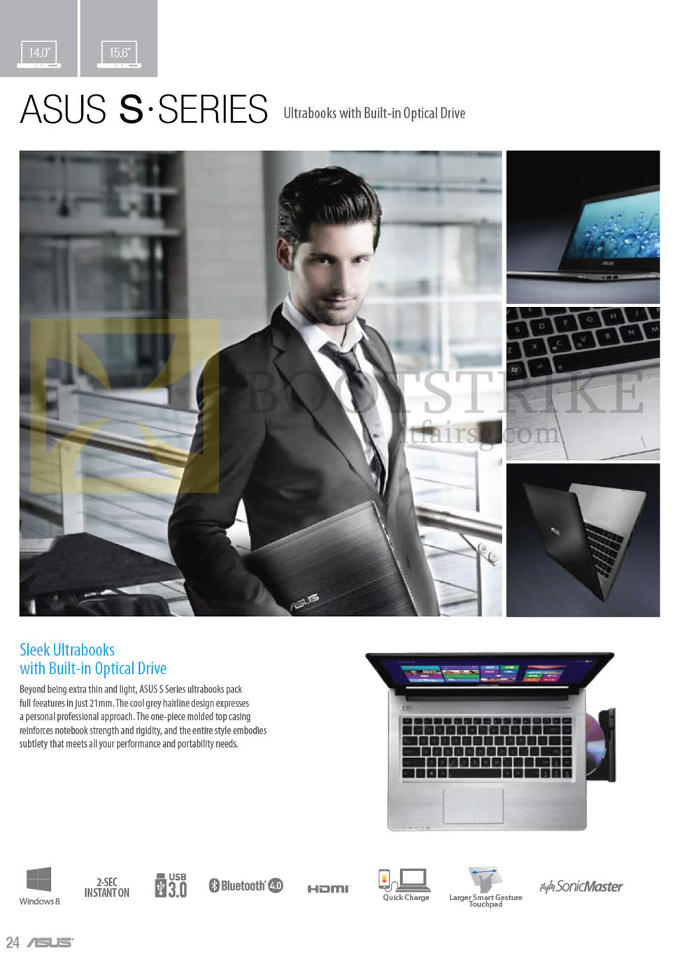 IT SHOW 2013 price list image brochure of ASUS Notebooks S Series Ultrabooks With Built-in Optical Drive