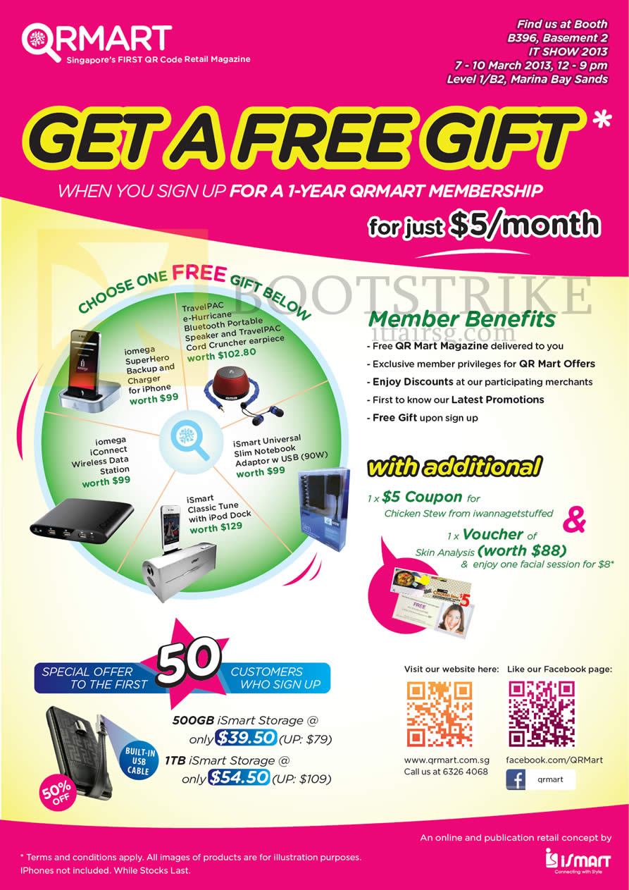 IT SHOW 2013 price list image brochure of Bell Systems QRMart Membership