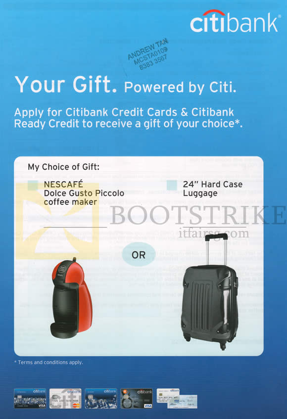 IT SHOW 2013 price list image brochure of Citibank Credit Cards, Ready Credit Application Free Gift