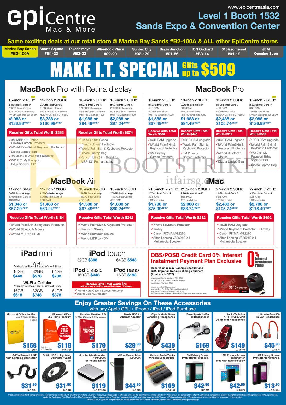 IT SHOW 2013 Price List Image Brochure Of EpiCentre Apple MacBook Pro Air IMac