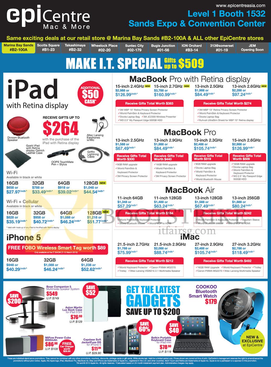IT SHOW 2013 Price List Image Brochure Of EpiCentre Apple IPad 4 Tablet MacBook Pro