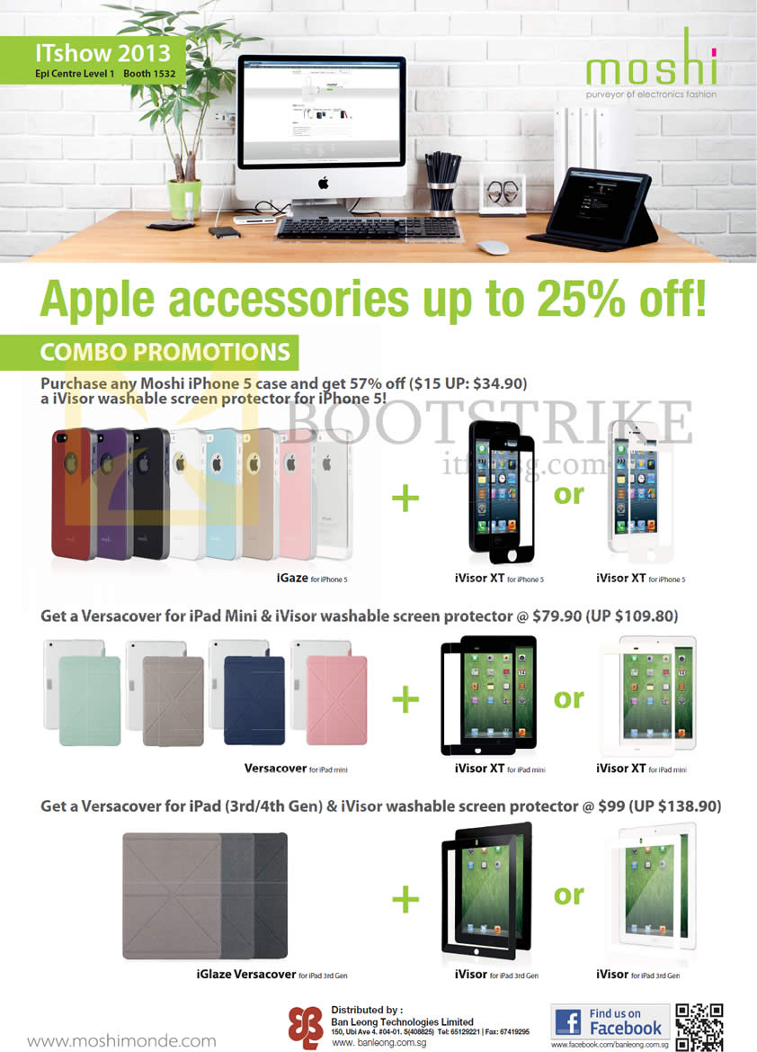 IT SHOW 2013 price list image brochure of EpiCentre Moshi Apple Accessories Iphone Case, IGaze, IVisor XT, Versacover, IPad Cover