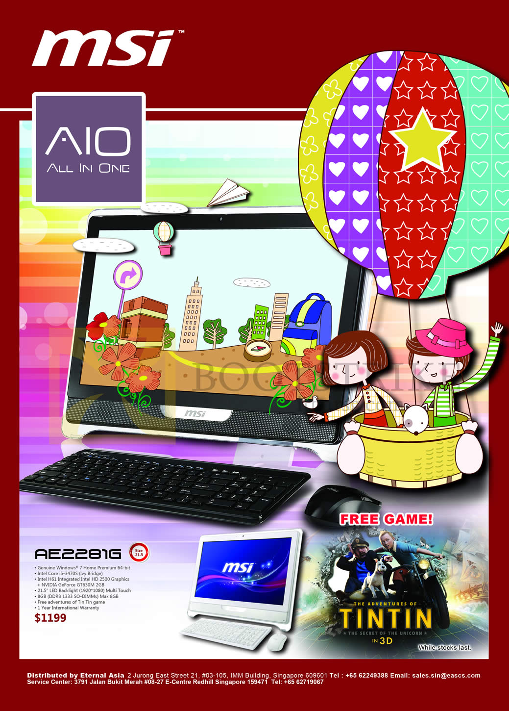 IT SHOW 2013 price list image brochure of Newstead MSI AIO Desktop PC AE2281G
