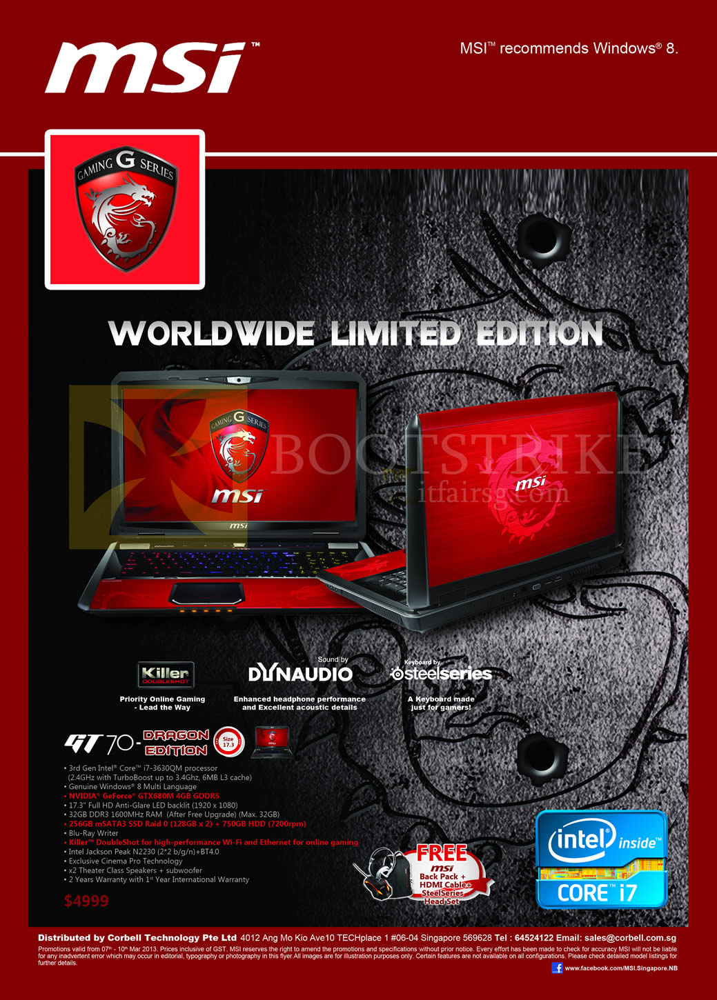 Newstead MSI Notebooks Gaming G Series Notebook GT70 Dragon