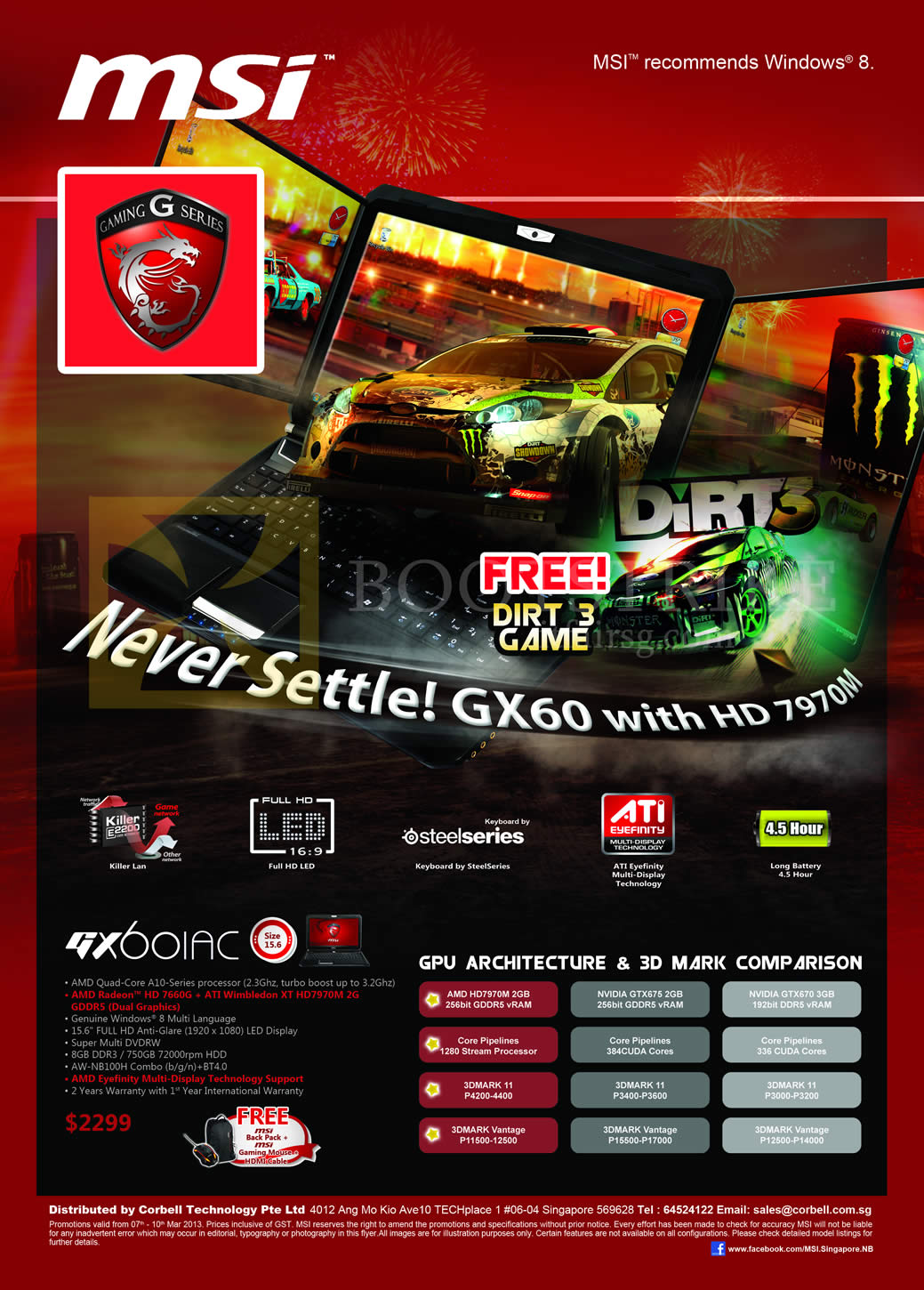 IT SHOW 2013 price list image brochure of Newstead MSI Notebooks Gaming G Series Notebook GX60 1AC