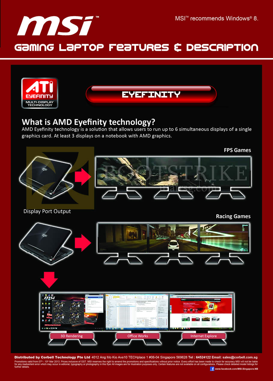 IT SHOW 2013 price list image brochure of Newstead MSI Notebooks Gaming Laptop Features Eyefinity