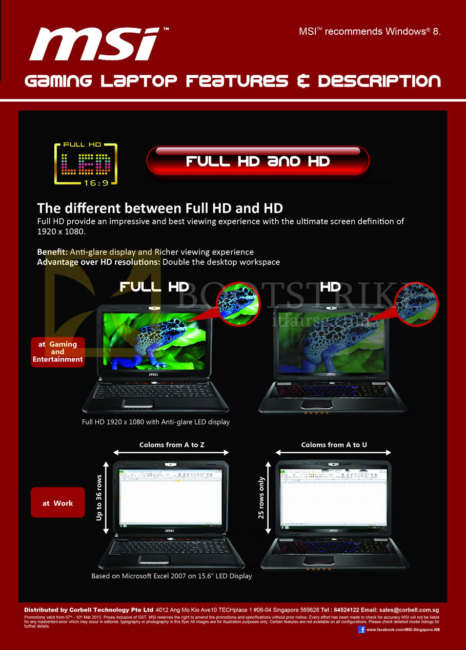 IT SHOW 2013 price list image brochure of Newstead MSI Notebooks Gaming Laptop Features Full HD And HD