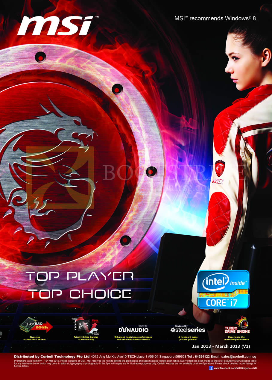 IT SHOW 2013 price list image brochure of Newstead MSI Notebooks MSI Top Player, Top Choice