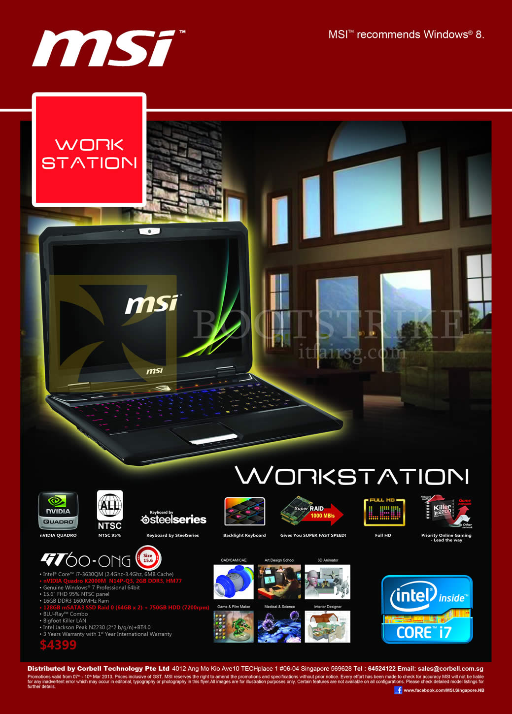 IT SHOW 2013 price list image brochure of Newstead MSI Notebooks Workstation GT60-0NG