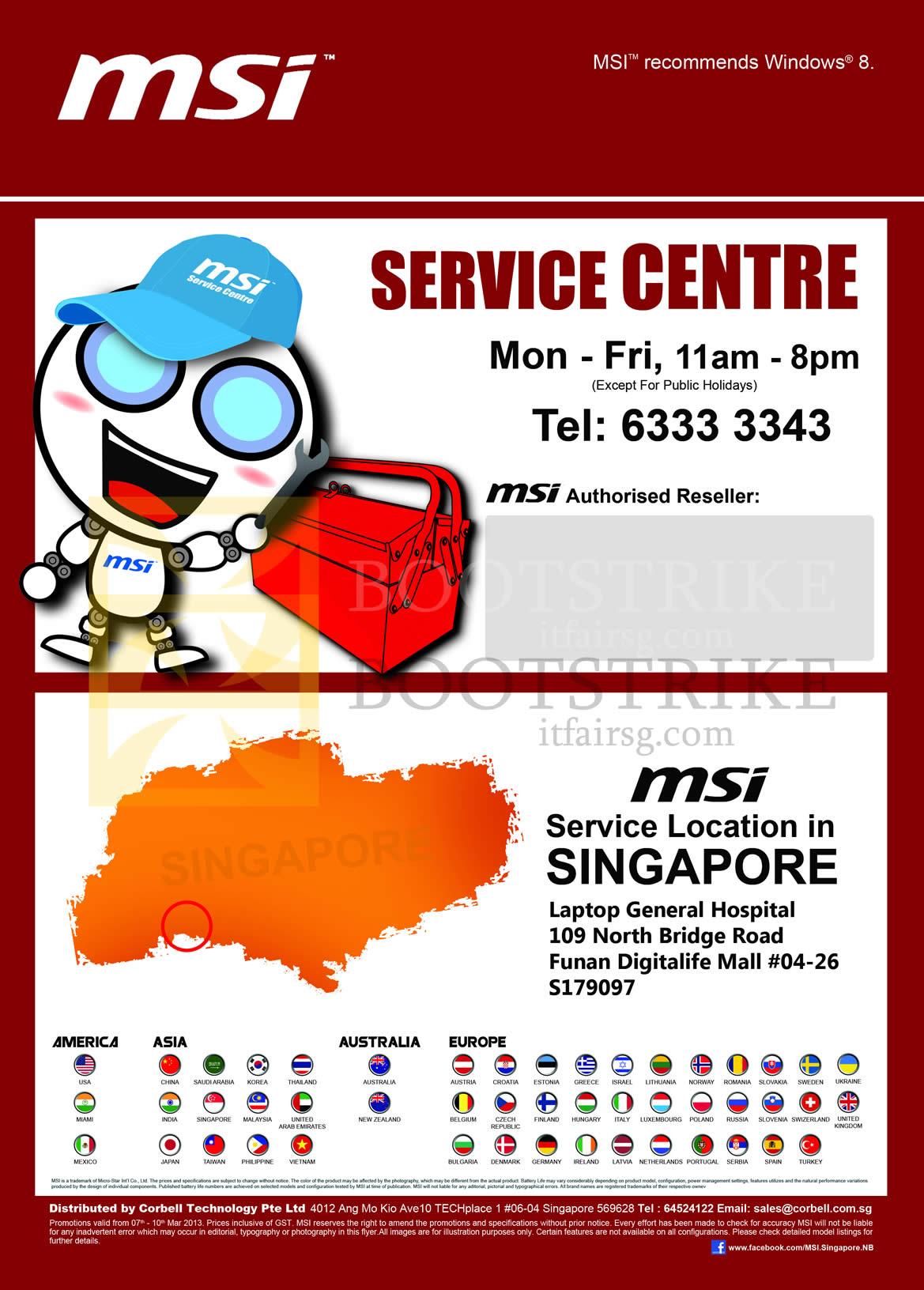 IT SHOW 2013 price list image brochure of Newstead MSI Service Centre Address