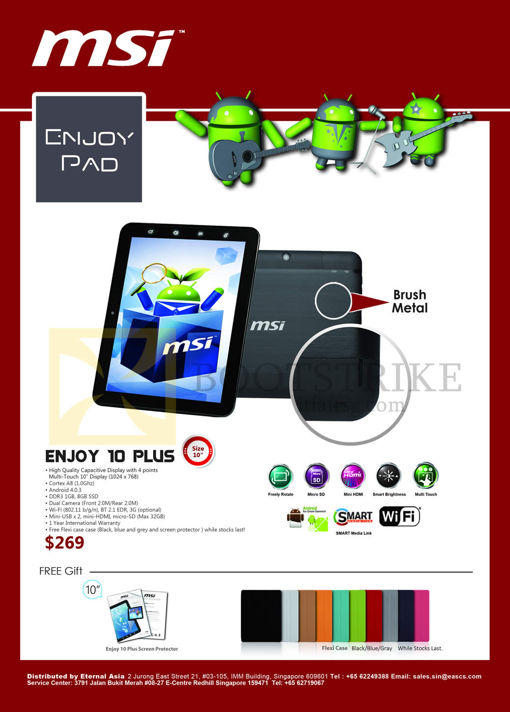 IT SHOW 2013 price list image brochure of Newstead MSI Tablet Enjoy Pad Enjoy 10 Plus