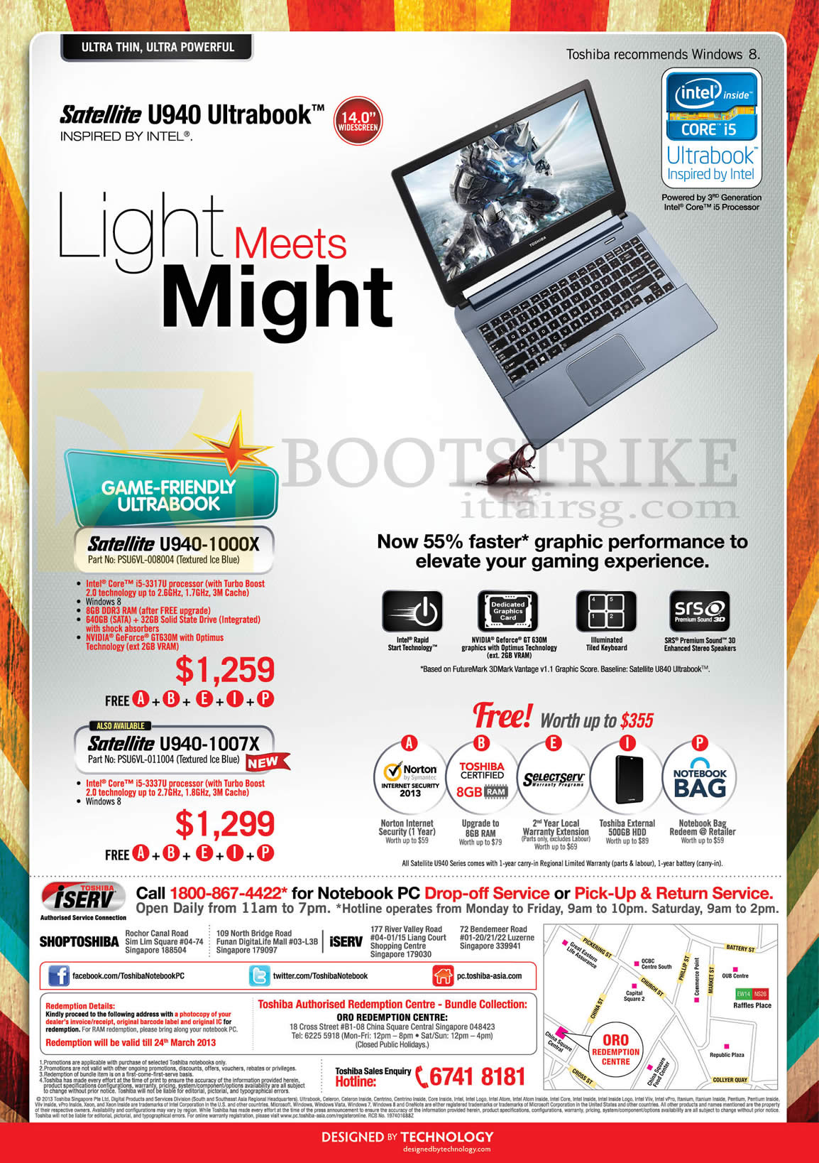 IT SHOW 2013 price list image brochure of Toshiba Notebooks Satellite U940-1000X, U940-1007X