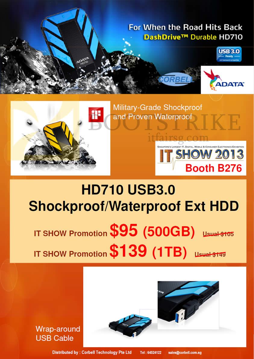 IT SHOW 2013 price list image brochure of Video-Pro Corbell AData HD710 USB External Storage