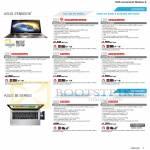 Notebooks Zenbook UX31A-C4027H, R4005H, UX31A-R4003H, UX32VD-R3001H, UX32VD-R4002H, S46CM-WX121H, S46CM-WX046H