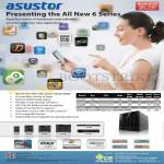 Media Player NAS Asustor AS-602T AS-604T AS-606T AS-608T AS-604RS AS-609RS