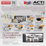 Surveillance Cameras ACTi Cube Dome Bullet Hemispheric Box SpeedDome Network IP