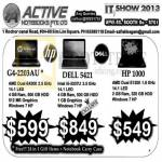 HP G4-2203AU, Dell 1521, HP 1000