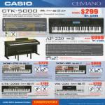 Celviano Music Pianos CTK-5000, AP-220, XW-P1, XW-G1, CTK-2200, WK-220