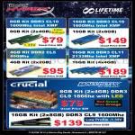 Kingston HyperX Memory RAM DDR3, Crucial Ballistix DDR3