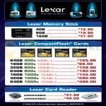 Lexar Flash Memory Stick, CompactFlash CF