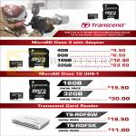 Transcend MicroSD Flash Memory, Card Reader TS-RDF8W TS-RDF5K