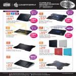 CMStorm Notebook Coolers Notepal Ergostand II, X3, A100, I300, X-Slim, I100, X-Lite, L1