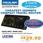 Fida Prolink WNR1004 Wireless N Green Pocket AP Router