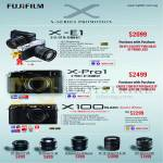 Digital Cameras X-Series X-E1, X-Pro1, X100 Black Limited Edition, Lenses