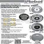 IRobot Robotic Vacuum Cleaners Roomba 531, Roomba 555, Roomba 780, Scooba 390
