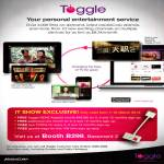 Toggle Entertainment Service Specials, Free HDMI Adaptor, Goodie Bags