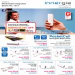 Multimedia Integrated Innergie Portable Charger PocketCell, MMini DC10, AC15, Apple Tip, AC15 Wall Charger, DC10 Car Charger