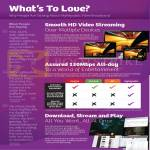 Fibre Broadband Features, HD Video Streaming, Comparison Chart