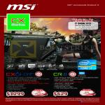 MSI Notebooks CX Series Notebooks CX61-ONF, CR41