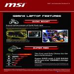 MSI Notebooks Gaming Laptop Features Audio Boost, Super Raid