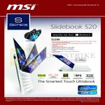 MSI Notebooks Slidebook S20 Ultrabook